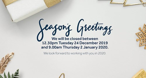 Season's Greetings 2019 Office Closures and Crisis Support Contacts