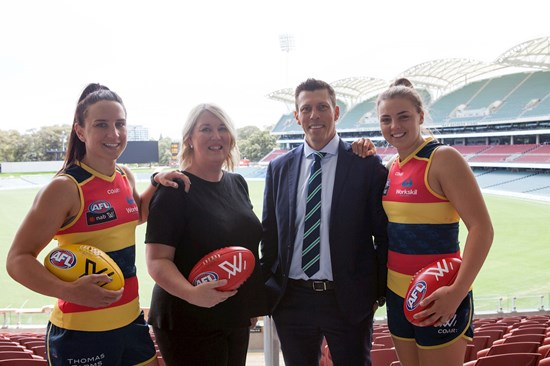 Adelaide Crows Women's Football Club and Workskil Australia